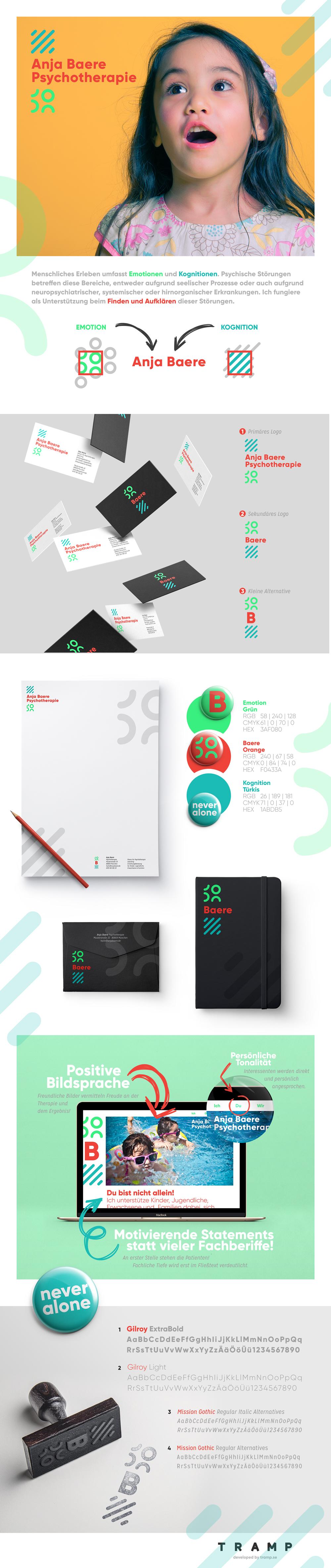 Anja Baere Identity CI designed by Tobias Heumann
