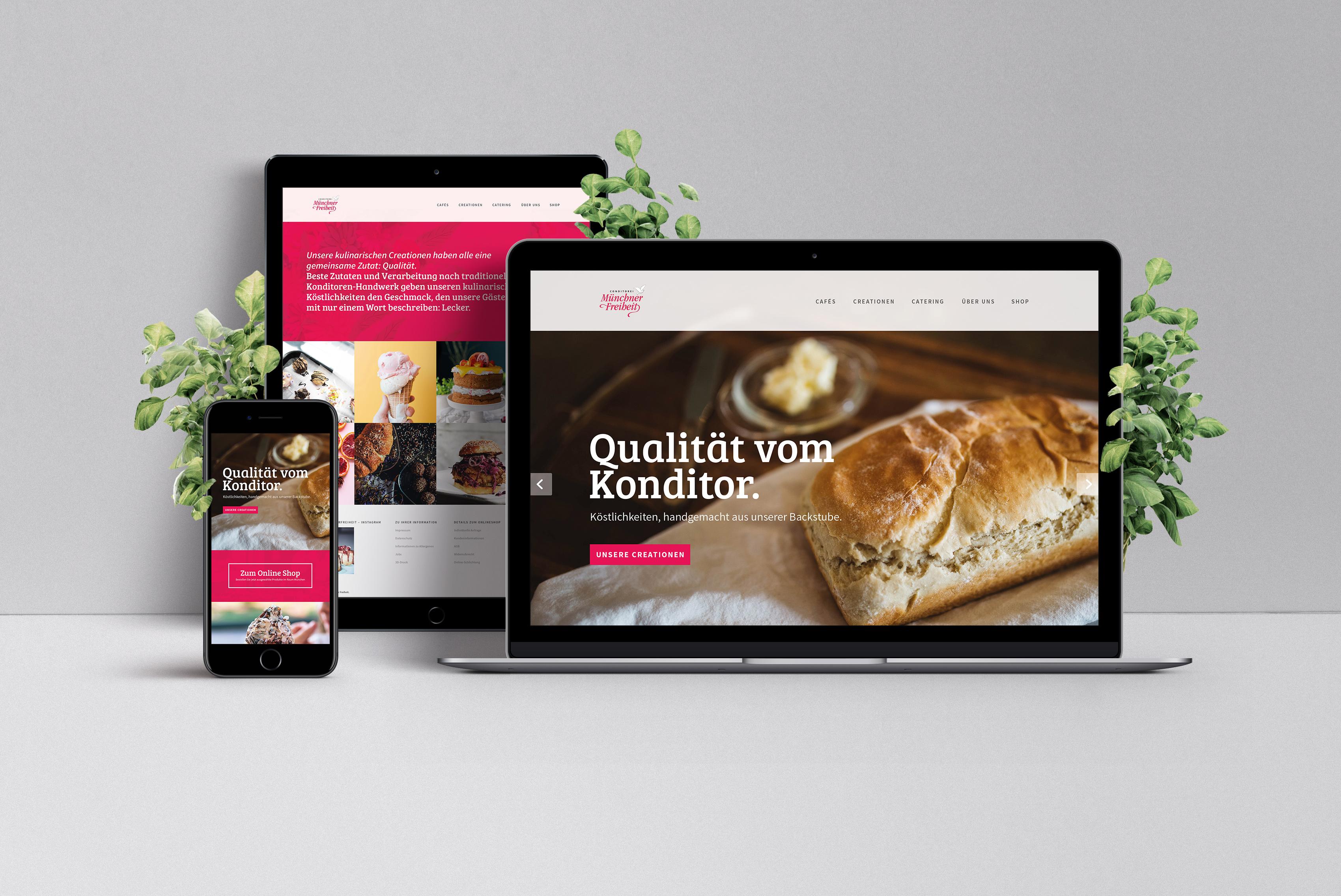 Café Münchner Freiheit Website designed by Tobias Heumann & Nicolas Droessel