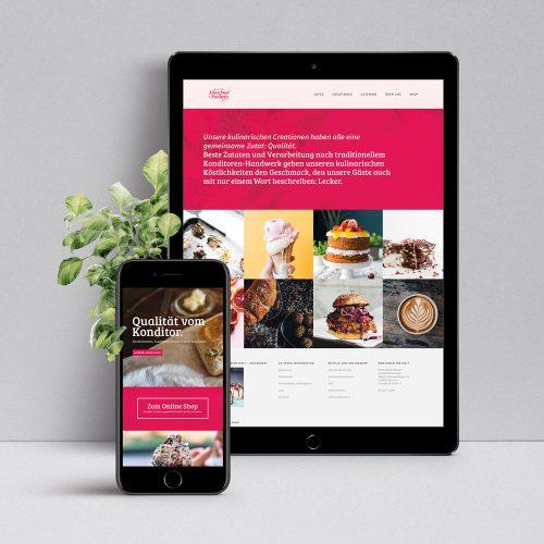 Café Münchner Freiheit Website designed by Tobias Heumann & Nicolas Droessel – Visual Designer