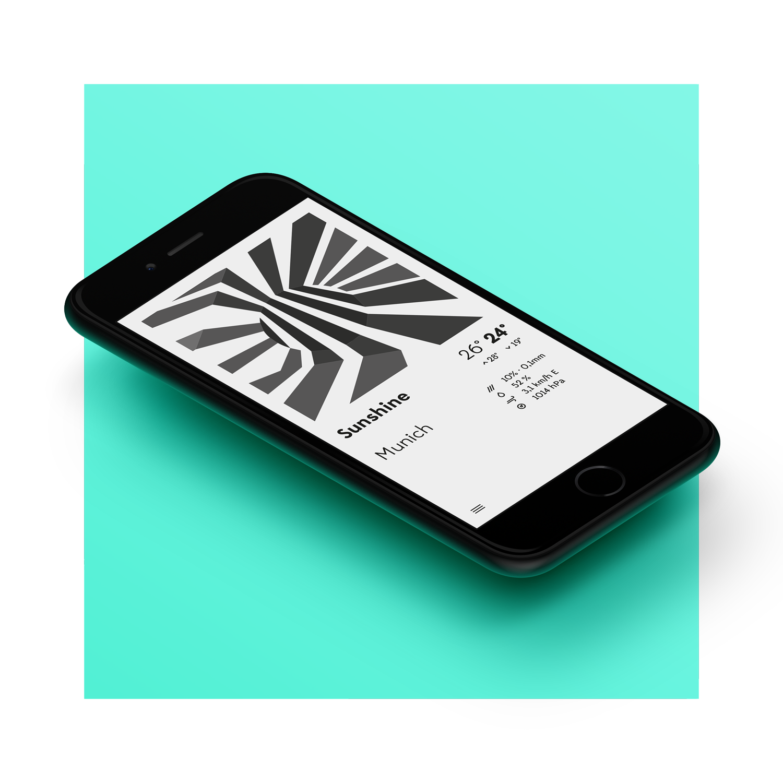 Dazzle Weather App designed by Tobias Heumann