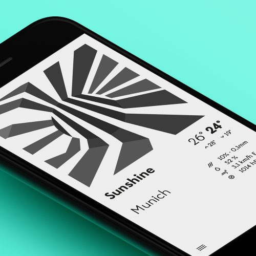 Dazzle Weather App designed by Tobias Heumann – Visual Designer