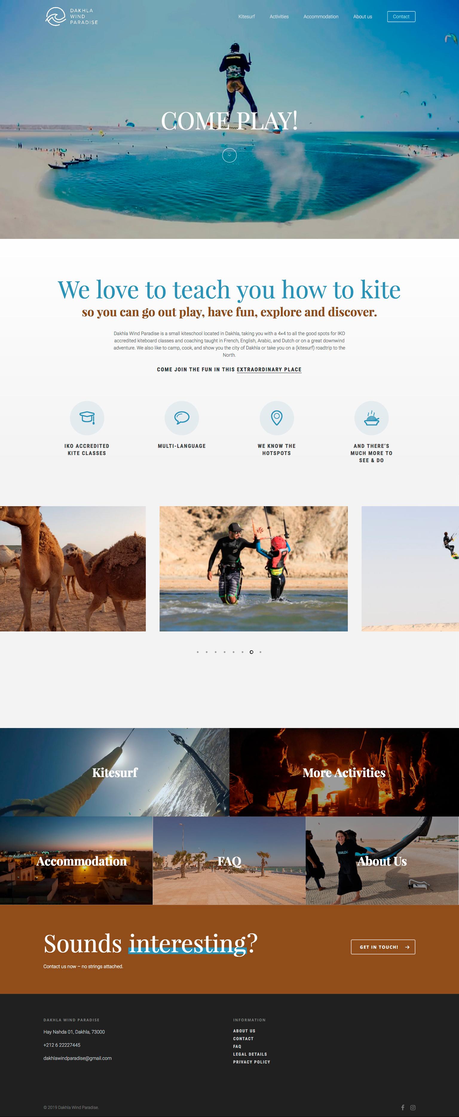 Dakhla Wind Paradise Website designed by Tobias Heumann