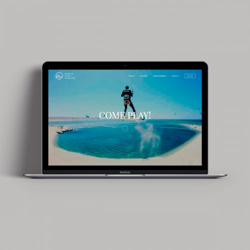 Dakhla Wind Paradise Website designed by Tobias Heumann – Visual Designer