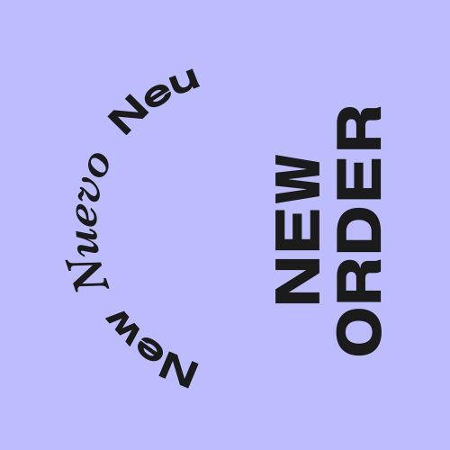 New Order Visual Identity designed by Tobias Heumann – Visual Designer